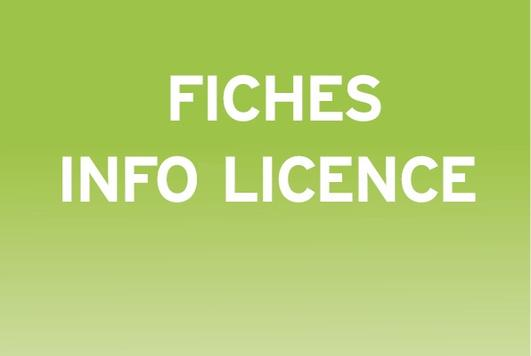 Fiches info licence home