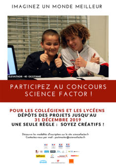 Science Factor 2019-2020 Affiche